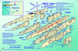 HMCS Yukon Wreck Card from Franko Maps