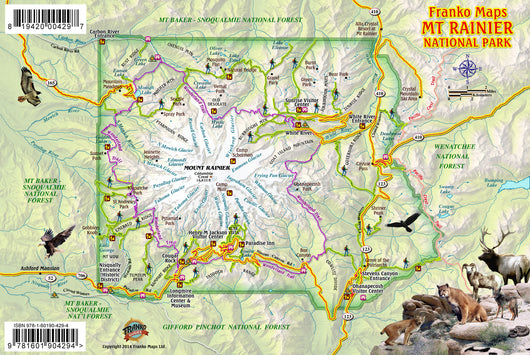 Mt Rainier National Park Guide Card
