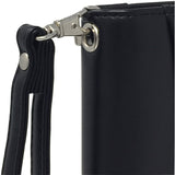 "Black Mini Zippered Napa-Like Leather Padfolio with 8"" Tablet Sleeve"