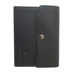 Handmade Genuine Italian Black Leather Journal in Gift Bag
