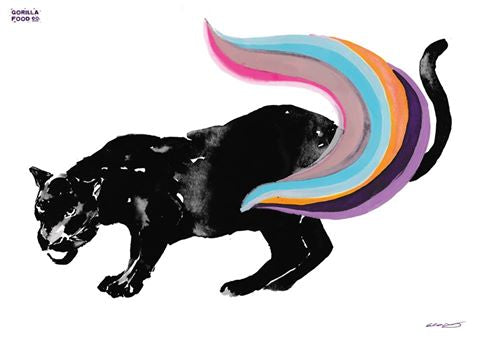 Gorilla Food Co. Rainbow Panther A3 Poster