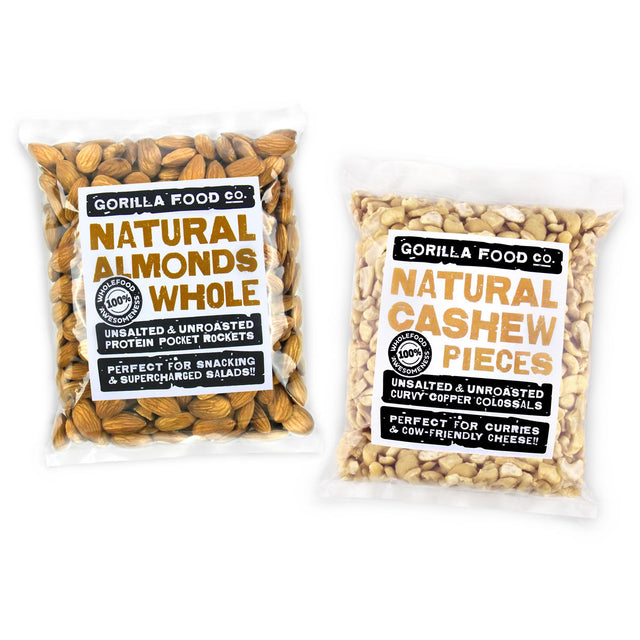 Almonds Whole & Cashew Nut Pieces Combo Pack - SAVE 10%!!!