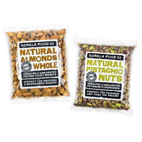 Almonds Whole & Pistachio Nuts Whole Combo Pack - SAVE 10%!!!