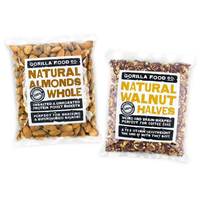 Almonds Whole & Walnut Halves Combo Pack - SAVE 10%!!!