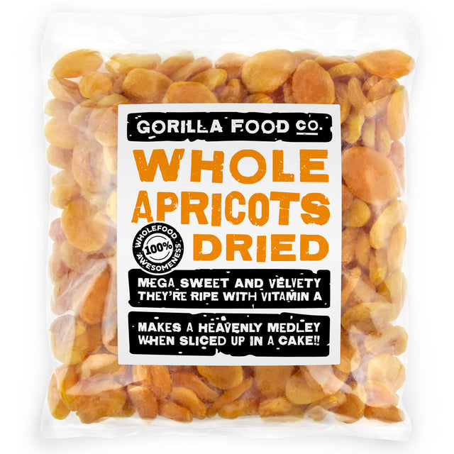 Gorilla Food Co. Whole Dried Apricots