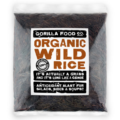 Gorilla Food Co. Organic Black Wild Rice