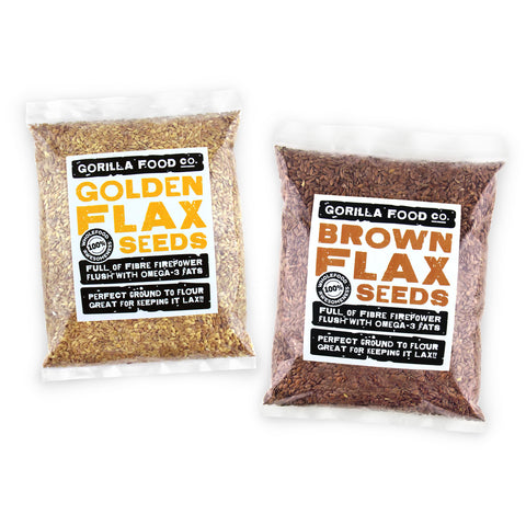 Golden & Brown Flax Seeds (Linseed) Combo Pack - SAVE 20%!!!