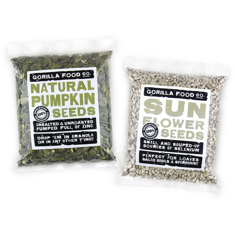 Natural Pumpkin & Sunflower Seeds Combo Pack - SAVE 20%!!!