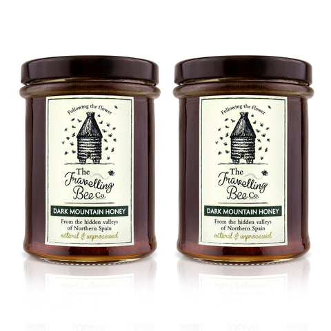 Travelling Bee Co. Natural Mountain Honey - 2 x 227g Twin Pack - SAVE 10%