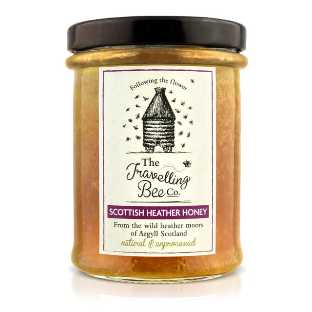 Travelling Bee Co. Natural Scottish Heather Honey - 227g