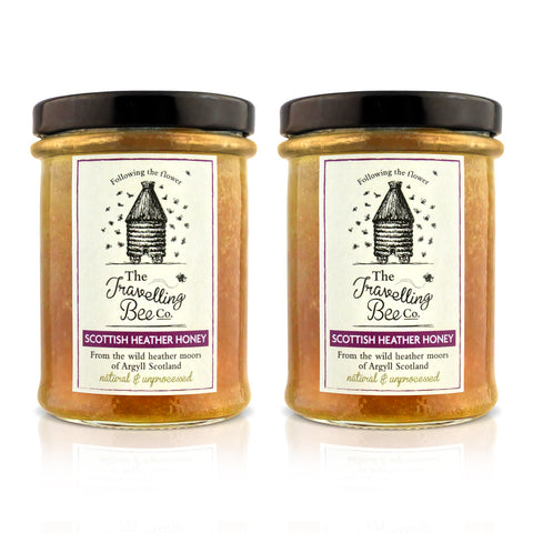 Travelling Bee Co. Scottish Heather Honey - 2 x 227g Twin Pack - SAVE 10%
