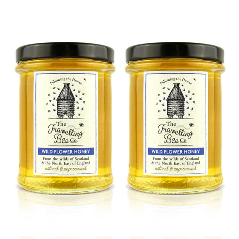 Travelling Bee Co. Wild Flower Honey - 2 x 227g Twin Pack - SAVE 10%
