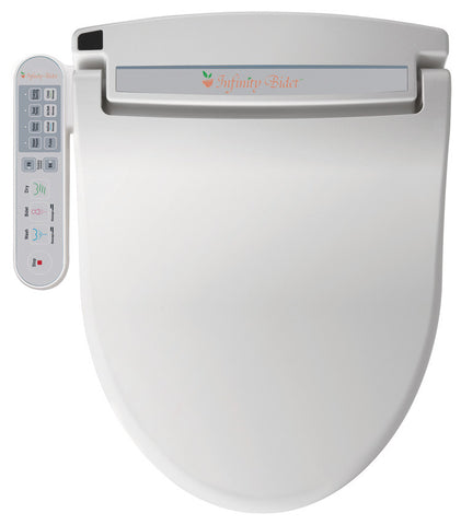 INFINITY BIDET ROUND XLC-2000 Electronic Toilet Seat, Endless Warm Water, Side Panel Controls