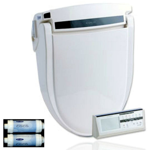 COCO BIDET ELONGATED 9500R Electronic Toilet Seat Bidet - On-Demand Heated Water - Remote Control - Jet Wash - UL Listed