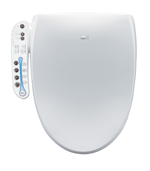 BIO BIDET A7 AURA ELONGATED Electronic Toilet Seat | Stainless Steel Jet Wash | LED Panel Controls