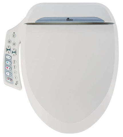 BIO BIDET BB-600 ROUND Electronic Toilet Seat Heated | Dual Nozzle Jet Wash Hygiene | Side Panel Controls