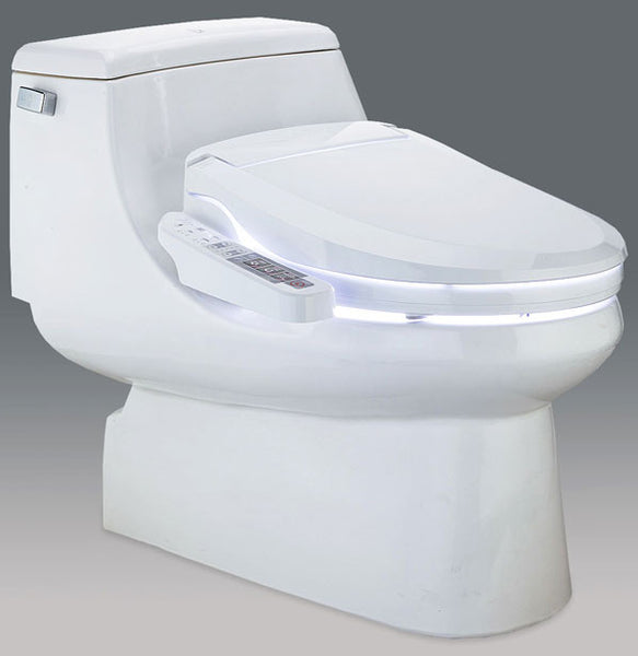 BLOOMING BIDET ELONGATED 1163 Side Panel Control Electronic Toilet Seat, Endless Warm Water, LED Night Light, NB-1163-EW