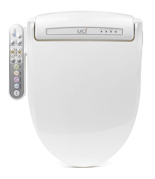 BIO BIDET BB-800 ELONGATED Electronic Heated Toilet Seat | Jet Wash Hygiene | Side Panel Controls | Heated Water | Heated Seat | Warm Air Dry
