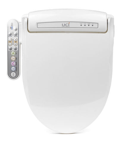 BIO BIDET BB-800 ROUND Electronic Heated Toilet Seat | Jet Wash Hygiene | Side Panel Controls | Heated Water | Heated Seat | Warm Air Dry