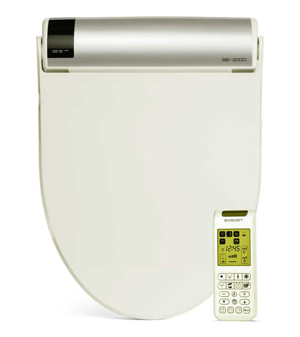 BIO BIDET BLISS BB-2000 BEIGE ELONGATED Electric Toilet Seat, Stainless Steel Jet Wash, On-Demand Heated Water, Remote Control