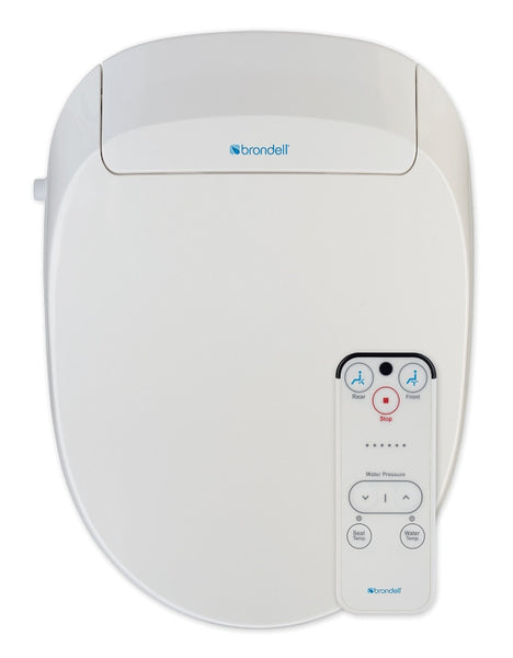 BRONDELL 300 BIDET TOILET SEAT ROUND Swash, Remote Control, Heated Water and Seat, Jet Wash