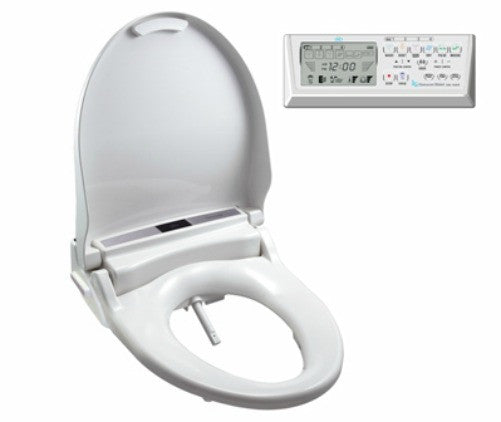 CLEAN SENSE BIDET ROUND 1500R-RW Electronic Toilet Seat w/Remote Control,  Air Dry, On Demand Continuous Warm Water