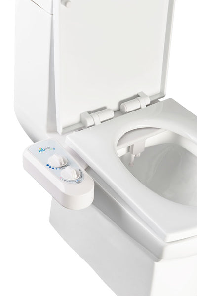 BIO BIDET ELITE3 Non-Electric Toilet Bidet Attachment | Dual Nozzle Jet Wash Personal Hygiene