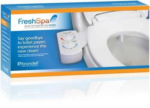 BRONDELL BIDET FreshSpa Non-Electric FSW-20 Dual Temp Spa Warm Wash Toilet Attachment