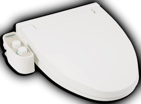 FEEL FRESH BIDET HI-1000 ROUND Non-Electric Toilet Seat, Twin Jet Nozzles, Cold Water Only