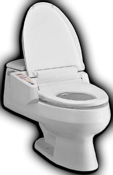 FEEL FRESH HI-3000 BIDET ROUND Electronic Toilet Seat, Heated Water, Side Panel Controls