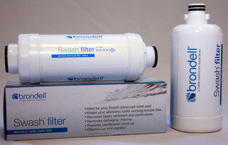 BRONDELL 4 BIDET WATER FILTERS Purify Remove Hard Water Sediment Calcium Keep Jets from Clogging 4 Pack SWF44