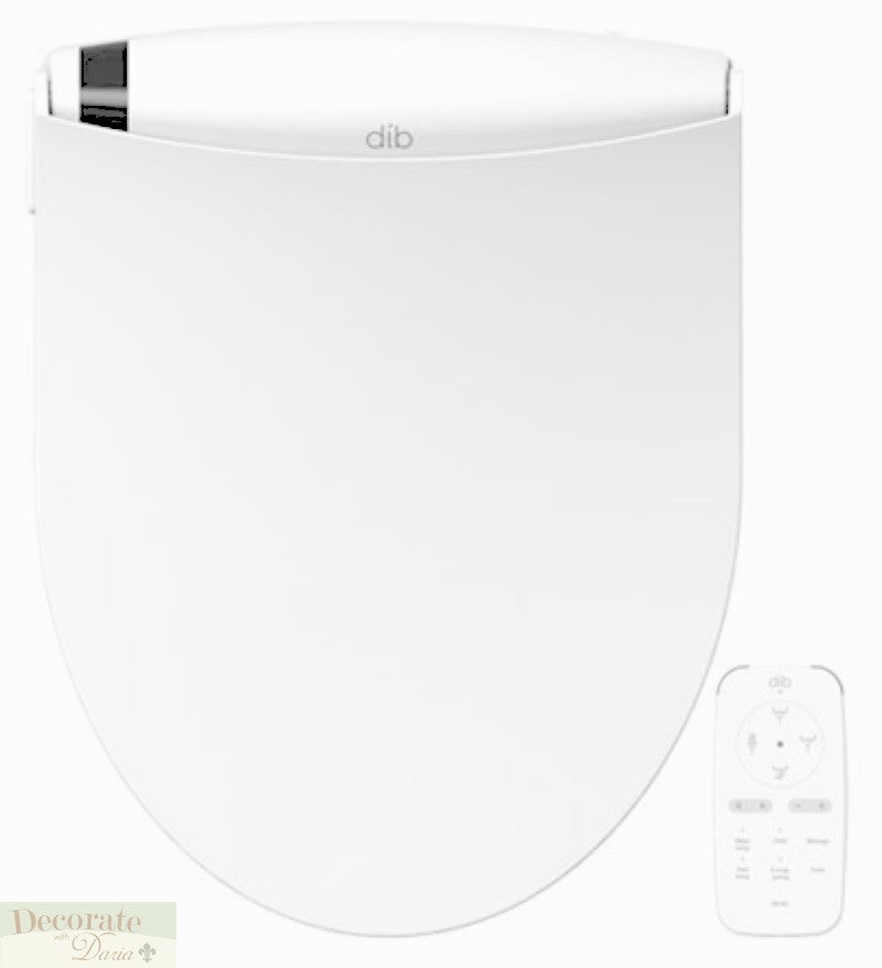 BIO BIDET DIB ROUND Electronic Bidet Toilet Seat - Stainless Steel Jet Wash - On-Demand Endless Heated Water - Remote Control