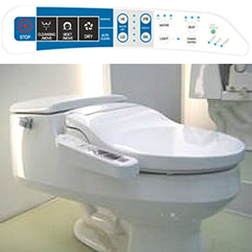 GALAXY 4000 BIDET ROUND Electronic Toilet Seat, Side Panel Control, Endless Warm Water, LED Night Light