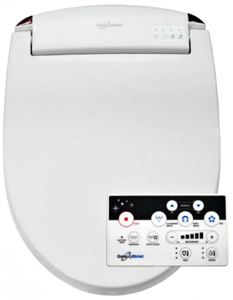 GALAXY 5000 BIDET ROUND Electronic Toilet Seat Remote Control,  Endless Warm Water, LED Nite Light
