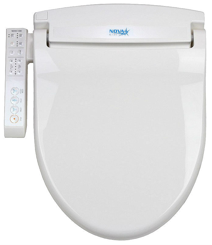 NOVA 1000 BIDET ELONGATED Electronic Toilet Seat, Endless Instant Warm Water, Side Panel Control