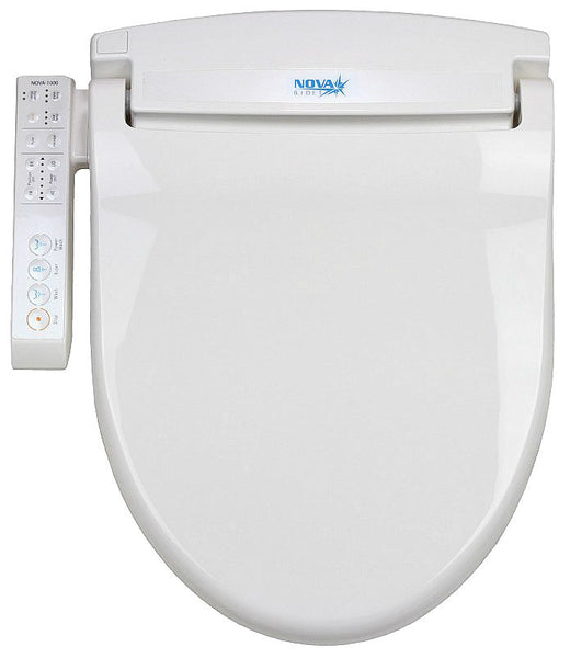 NOVA 1000 BIDET ROUND Electronic Toilet Seat, Endless Instant Warm Water, Side Panel Control