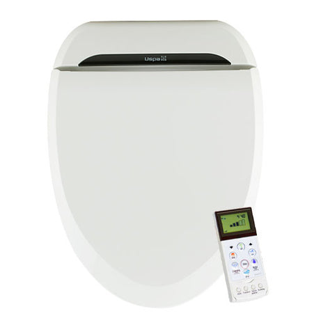 USPA BIDET ROUND Electronic Toilet Seat | Remote Control | Dual Jet Wash Hygiene | Heated Seat | Warm Air Dry