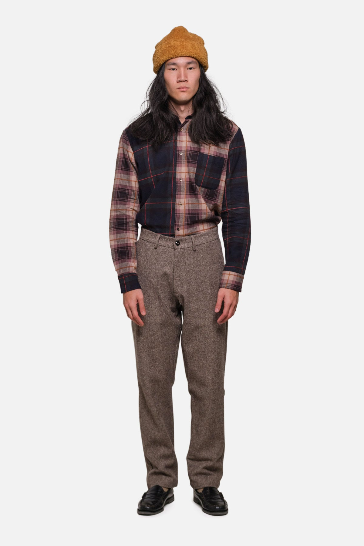 BRIGGS TROUSER IN MOCHA HERRINGBONE TWEED - Fortune Goods