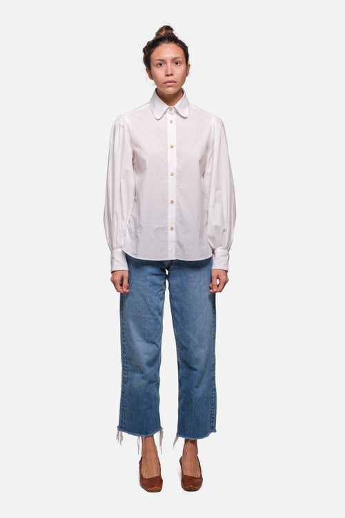 FARE BUTTON DOWN IN WHITE - Fortune Goods