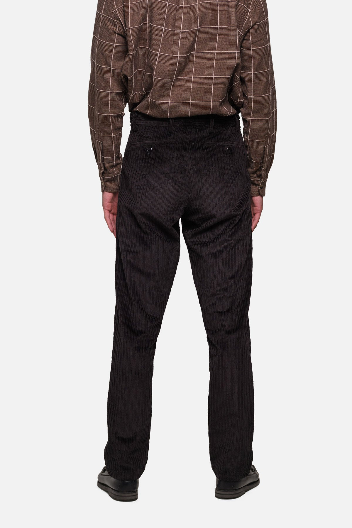 BRIGGS TROUSER IN BLACK Hi-Lo CORD - Fortune Goods