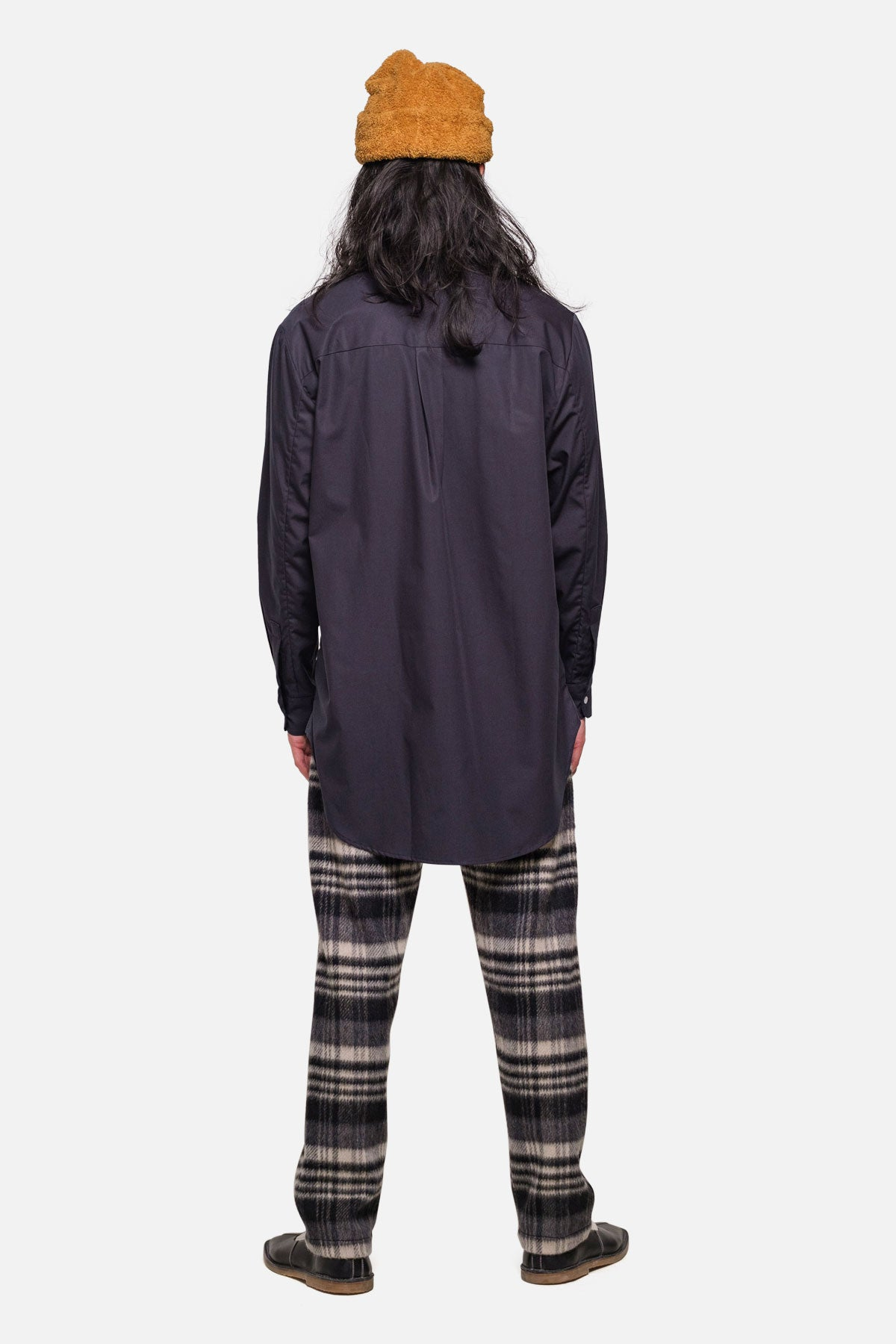 SHOREDITCH TUNIC IN NAVY POPLIN - Fortune Goods