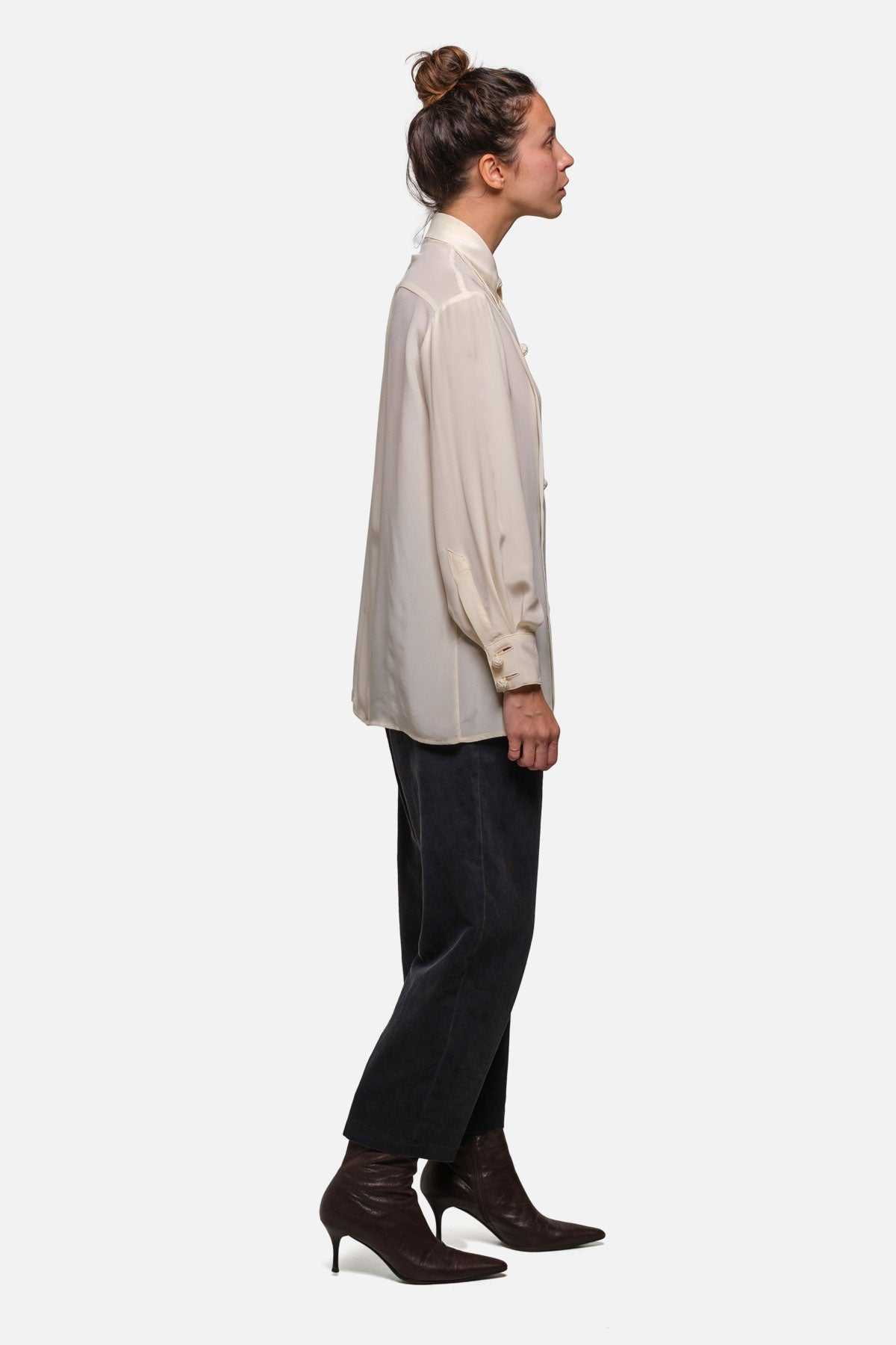DRE BLOUSE IN IVORY SILK - Fortune Goods
