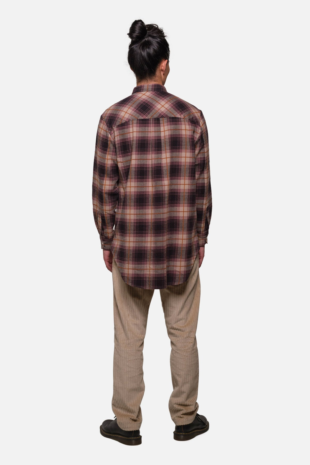 SHOREDITCH TUNIC IN PURPLE WINDOWPANE PLAID - Fortune Goods