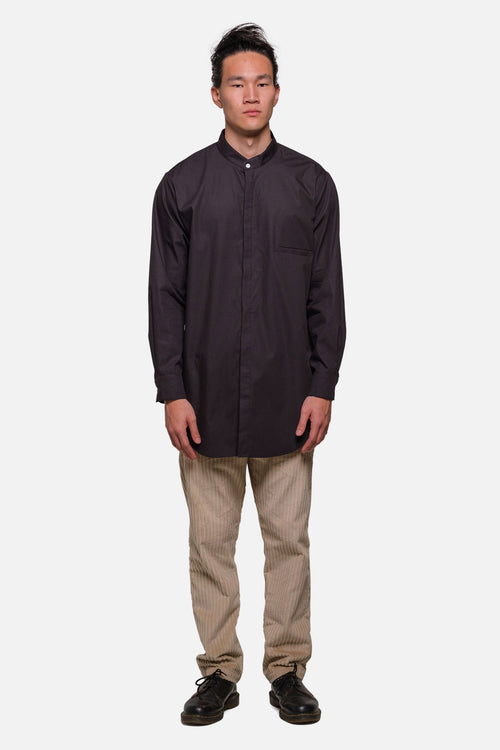 SHOREDITCH TUNIC IN BLACK POPLIN - Fortune Goods