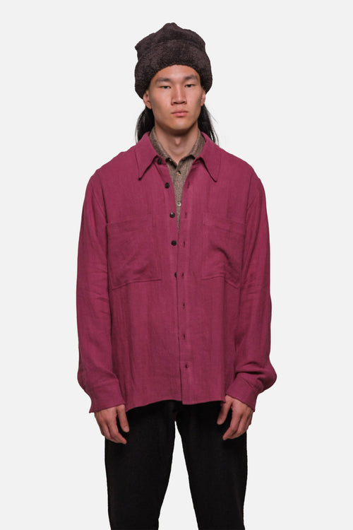 BROADWAY SHIRT IN CRIMSON - Fortune Goods