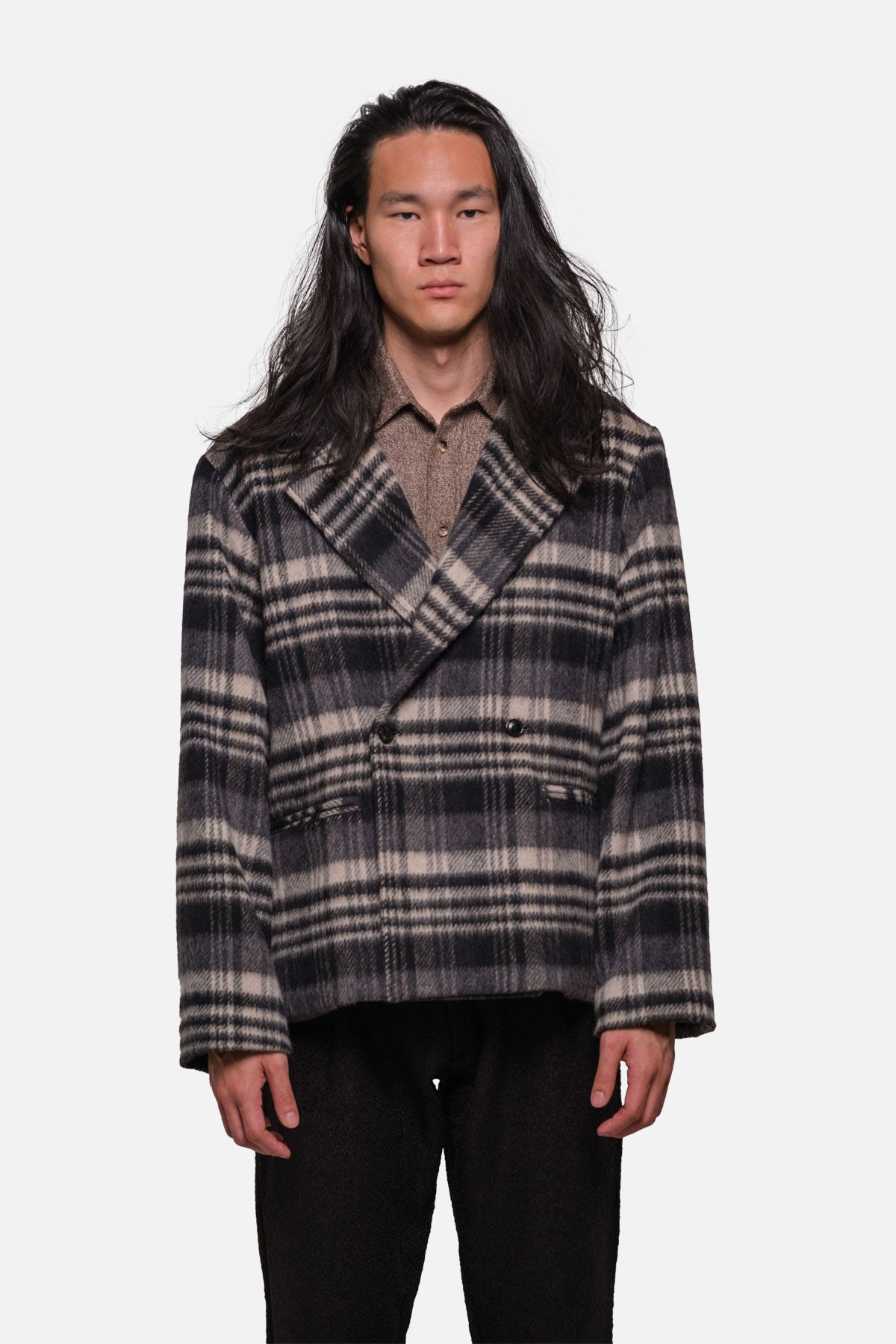 KERRYTOWN JACKET IN WOOL PILE PLAID - Fortune Goods