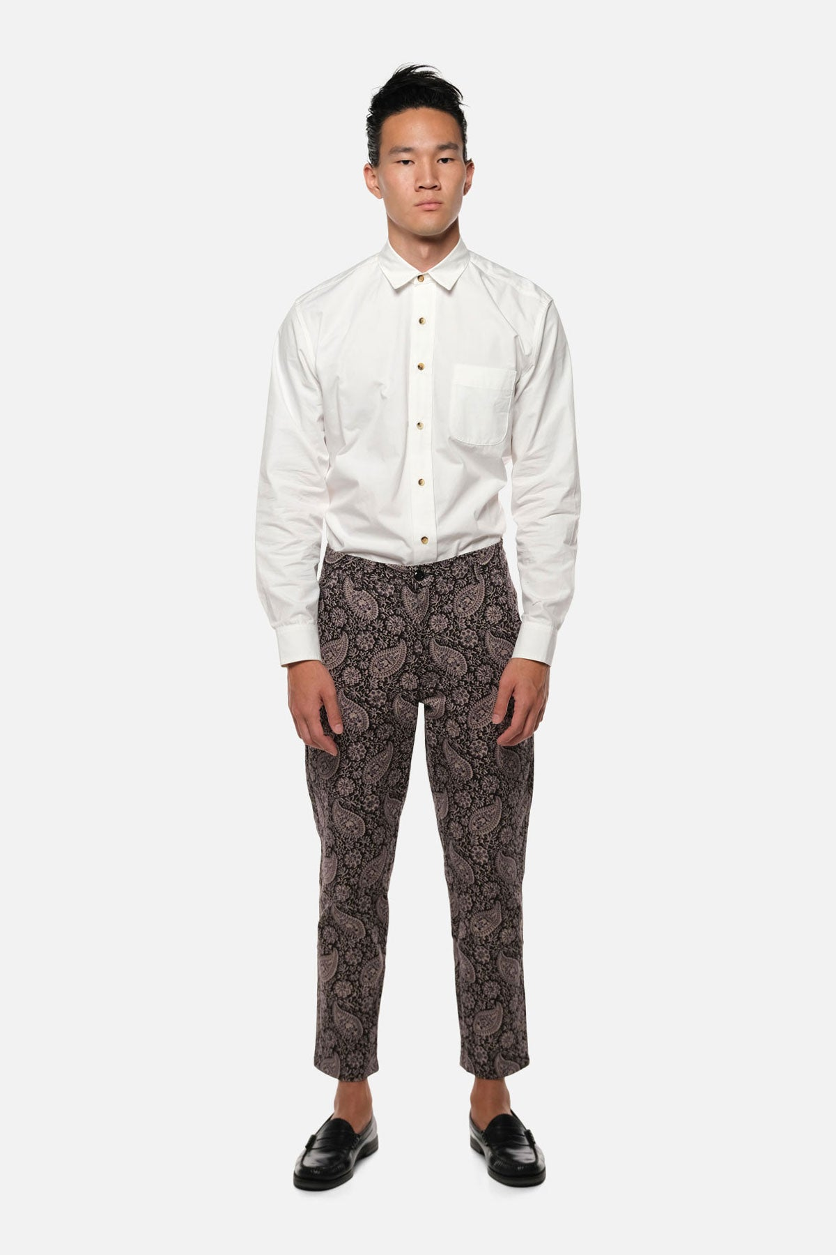ATLAS TROUSER IN PURPLE PAISLEY - Fortune Goods