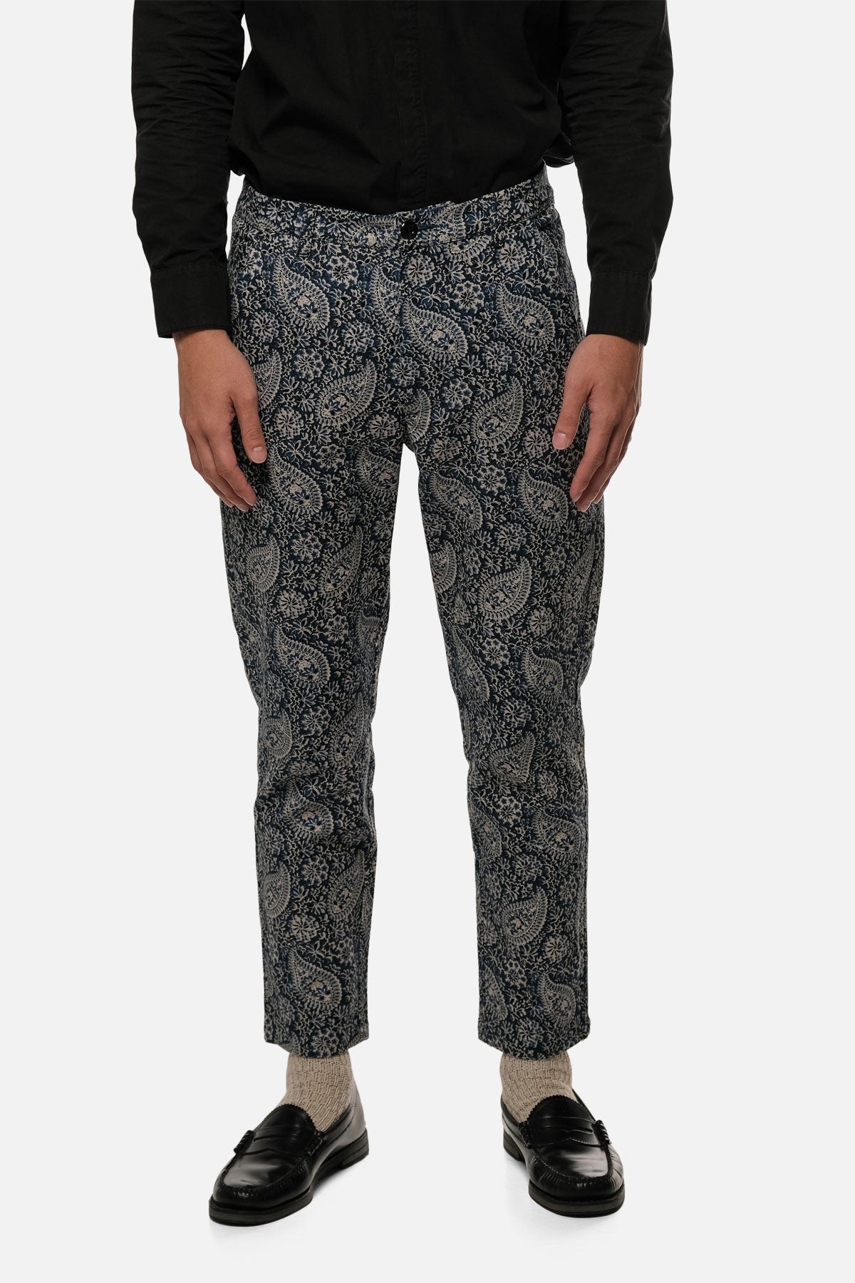 ATLAS TROUSER IN BLUE PAISLEY - Fortune Goods