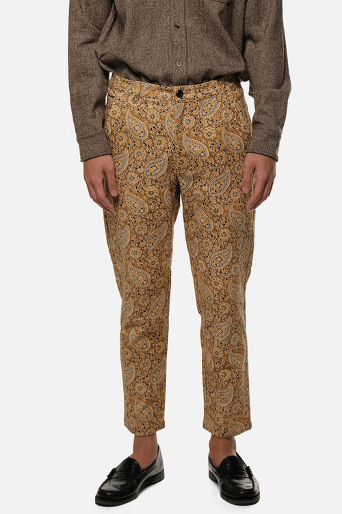 ATLAS TROUSER IN GOLD PAISLEY - Fortune Goods