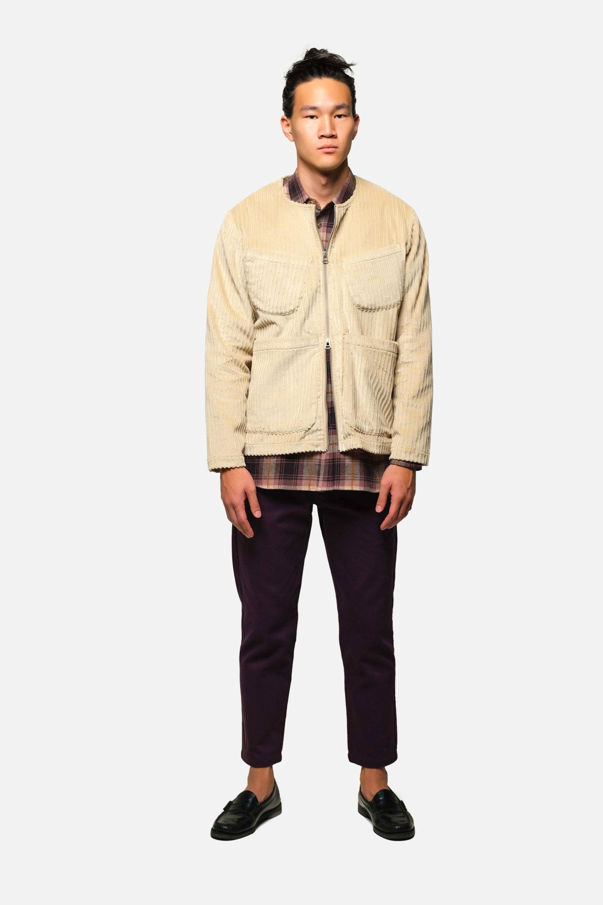 LINCOLN JACKET IN STONE Hi-Lo CORDUROY - Fortune Goods